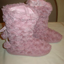Avon Plush Pink Rose Women's Slipper Bottie Size L/g 9-10 New Photo