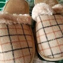 Avon Pop of Plaid Memory Foam Slippers M/m 7-8camel New Photo