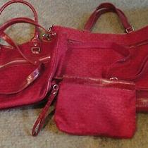 Avon Premier Beauty Consultant Tote Bag Purse & Clutch 3pc Representative Sale Photo