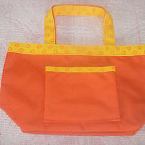 Avon Products Nip Small Orange Tote Bag With Small Pocket Photo