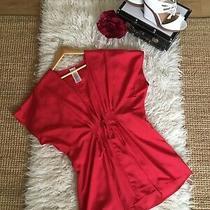 Avon Red Draped Kimono Kaftan Tunic Top Size 10 - 12 Photo