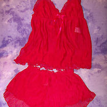 Avon Red Sweetheart Baby Doll Nightie - Size Small/p Photo