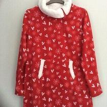 Avon Red/white Fleece Dressing Gown. Size 10/12 New Without Tags Festive Photo