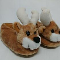 Avon Reindeer Slippers Brown New Never Worn Kid Size S/p (11-12) Christmas Photo
