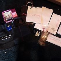 Avon Representative Tools 2 Bags Ring Sizer Samples Window Decal Paper Bags Photo