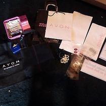 Avon Representative Tools 2 Bags Ring Sizer Samples Window Decal Paper Bags Photo