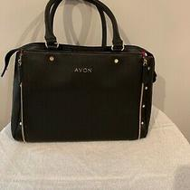 Avon Representative Tote Bag Purse Make-Up Holder Black Pink Plus Samples Photo