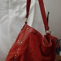 Avon - Rust Hobo Purse - Suede W Leather Trim Photo