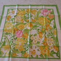 Avon Scarf Mother's Day Gift Gold Green Pink Photo