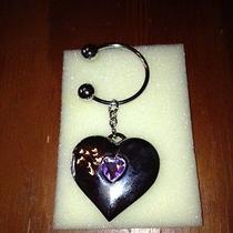 Avon Shimmering Heart Birthstone Photo Keychain for June Photo