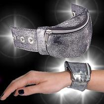 Avon Silver- Metallic Adjustable Wrist Wallet - New Photo