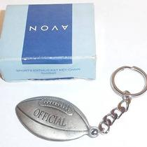 Avon Sports Enthusiast Key Chain Football Pewter Key Ring New Nib 2001 Photo
