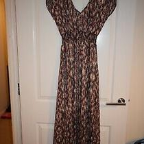 Avon Summer Maxi Multicoloured Zig Zag Printed Dress Size Uk 8-10 Photo