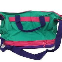 Avon Three Expandable Tote Bag Green Pink & Purple Great Vintage Colors. New Photo
