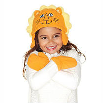 Avon Tiny Tillia Lion Orange Hat N Mitten Gift Set Toddler Girls Boys 98621or Photo