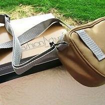 Avon Travel Bag - Beige Gray Trim - Shoulder or Belt Strap 9