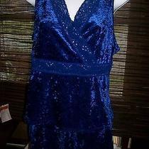 Avon Two Piece Blue Pajama Set Small Photo