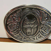 Avon Western Belt Buckle New in Box - Saddle Photo