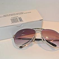 Avon White Aviator Gradient Modern Sunglasses Nib Photo