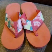 Avon Womans Thong Sandal Size 9 Coral Floral Photo
