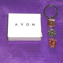 Avon Women's 3 Stone Key Ring 3 1/2