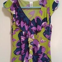 Avon Women's Small Fashion Blouse Bold & Colorful Floral Print - Polyester &   Photo