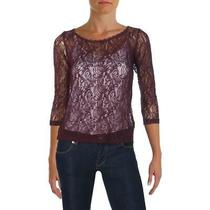 Avon Womens Purple Lace 2pc Sheer Pullover Top Shirt S Bhfo 0777 Photo