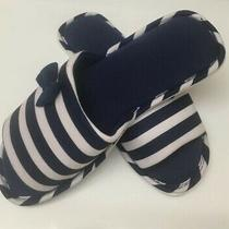 Avon Womens Striped Navy/white Slippers Made in China Size 5-6 New Photo
