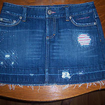 Awesome  American Eagle Brand Trendy  Distressed Denim Skirt   Size 4   Photo