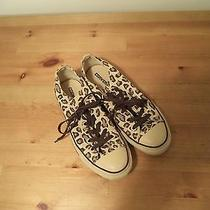 Awesome Converse Brown Leopard Print Low Top Sneakers- Sz 9 Photo