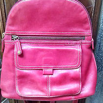 Awesome Fossil Backpack Leather Red Photo