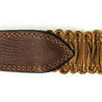 Awesome Hugo Boss Brown Lizard Embossed Leather Unisex Belt Size  28 29 30 31 Photo