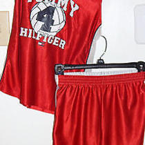 Awesome in Great Condition Tommy Hilfiger Size 7 Red Tank Top & Short Set Nice Photo