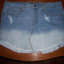 Awesome  Jessica Simpson Trendy  Distressed Denim Skirt  Juniors  Size  29   Photo