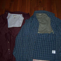 Awesome Lot of Two 2 Men's Vented Fishing Shirts - Size L - Columbia & Magellan Photo