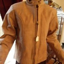 Awesome New W Tags Ladies Tan Leather Classic Motorcycle Jacket Sz M Thinsulate Photo