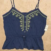 Awesome Nwt's Aeropostale Summer Misses Tank Sz Xl Navy/neon Green Photo