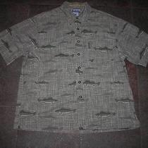 Awesome Rare Vtg Columbia Walleye Fishing Shirt Size M River Lodge Photo