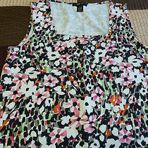 Awesome Style & Co Multi Color Knit Tank Square Neckline Cotton Blend Size L  Photo