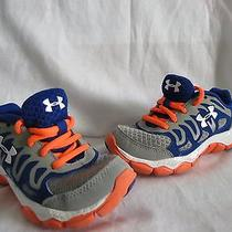Awesome Under Armour Little Boy Shoes Size 11excellent Like New Photo