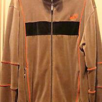 Awesome Vintage Puma Velour Track Jacket Size M Sable Brown Orange Chocolate Photo