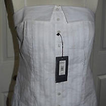 Awesome Woman's Sleeveless Tank Armani Exchange Nwt Large Button Up W/collar Photo