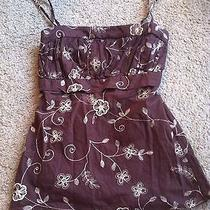 Awesome Women's Size S Small M Medium Charlotte Russe Tank Top Shirt Brown  Photo