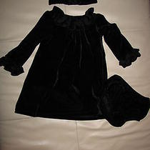 Awesommee  Camilla Black Velvet Holiday Dress...euc...18 Months Photo