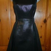 Ax Armani Exchange  Beautiful Black Metallic Dress - Size 2  / Uk 6 / New Photo