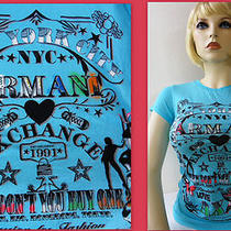 Ax Armani Exchange Bling New York City in Aqua T-Shirtsize Small Photo