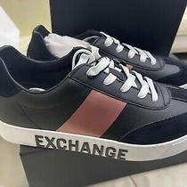 Ax Armani Exchange Women's 8.5 Lace Up Sneaker With Stripe Indoor Court Shoe Photo