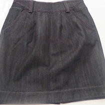 Ax  Armani Exchange  Womens   Cotton Blend Black Denim Mini Skirt Size 10 Photo