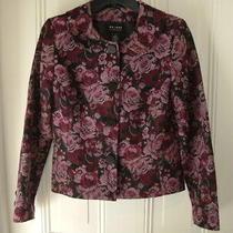 Axcessa Liz Claiborne Companymauve Rose Tapestry Blazer Jacketsize 8 Photo