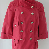 Axcess a Liz Claiborne Company Pink 3/4 Sleeve Button Front Blazer Jacket Sz M Photo